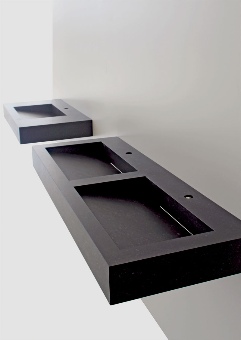 minimalistischer waschtisch vanity vidrostone interieur. Black Bedroom Furniture Sets. Home Design Ideas