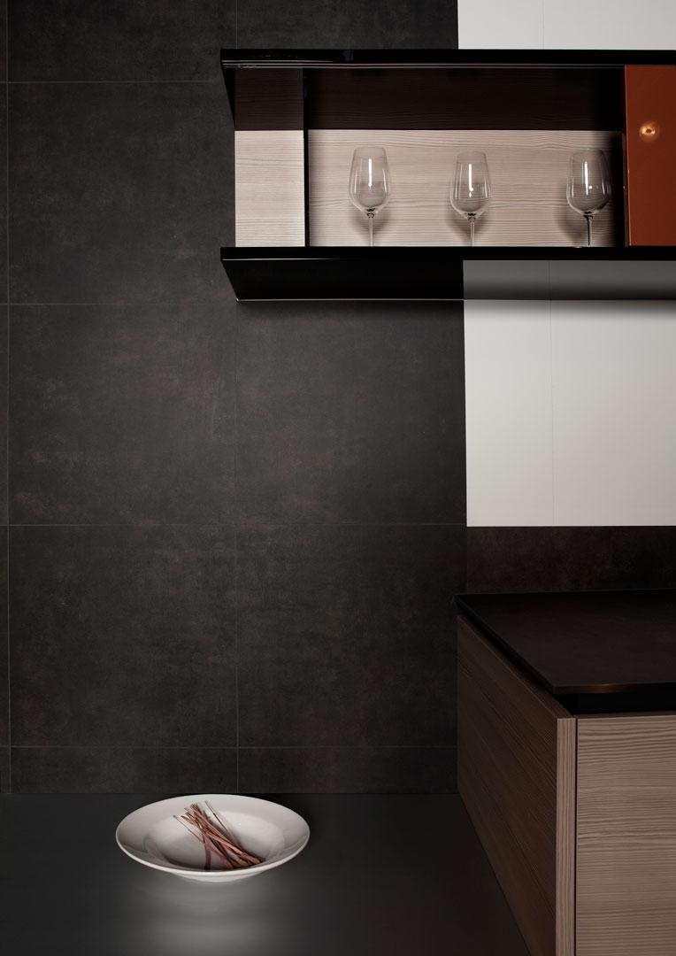 VidroStone Interieur – Luxuriöse Küche in Schieferoptik